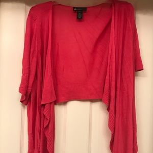 Women's 22/24 Bright Pink Sweater Cover-Up/Wrap